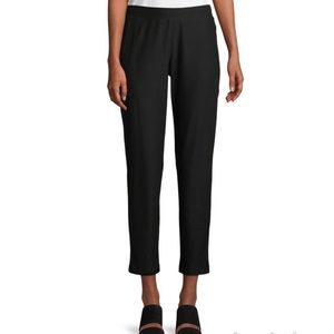 Eileen Fisher Crepe Slim Ankle Pant   L